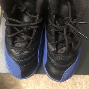 Royal blue and black Jordan's